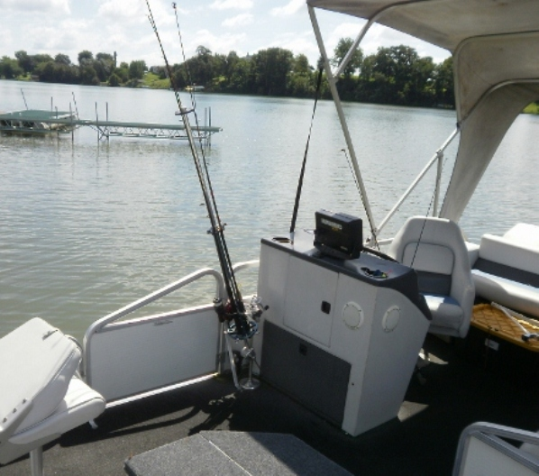 Exclusive custom design rod select 360 for Fishing rod holders for pontoon boats